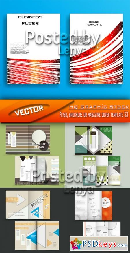 Flyer, brochure or magazine cover template 53