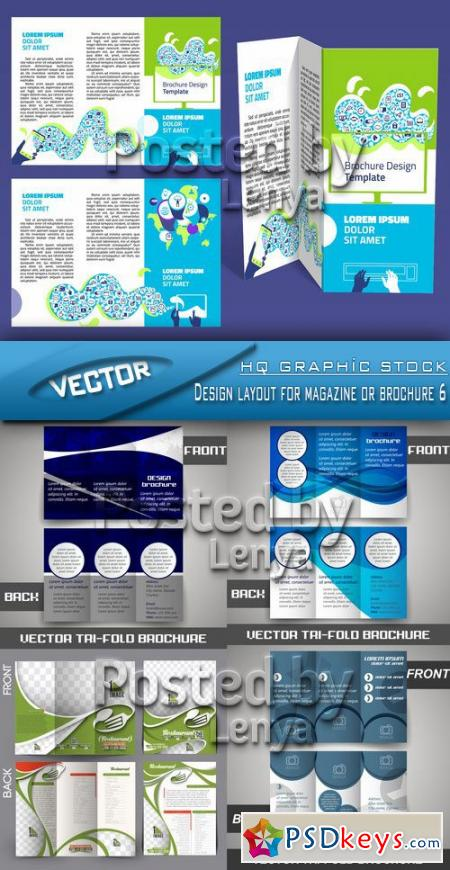 Design layout for magazine or brochure 6