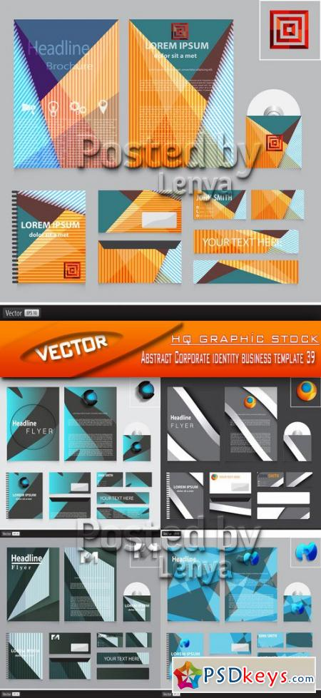Abstract Corporate identity business template 39