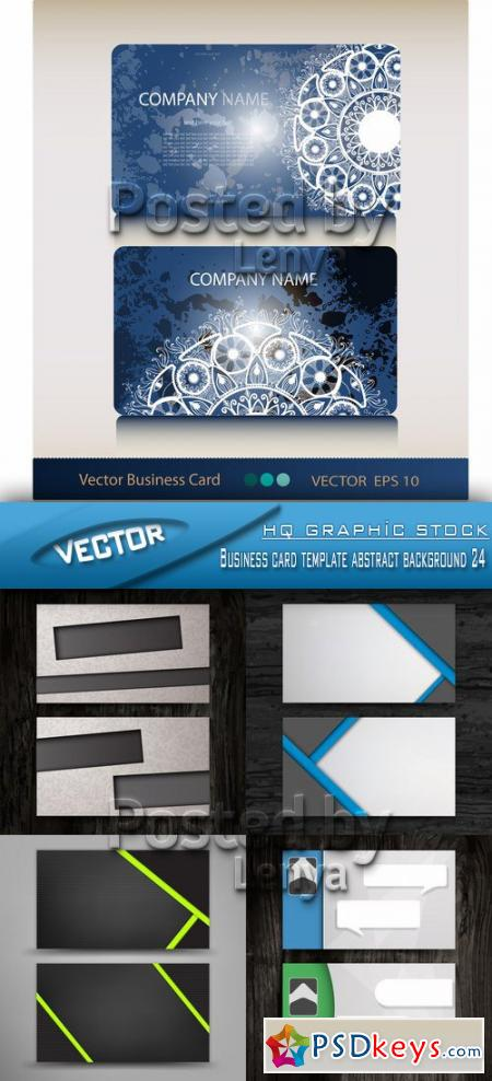 Business card template abstract background 24