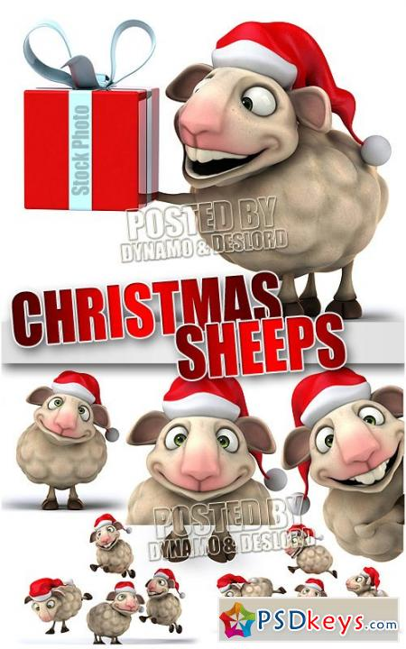 Xmas sheep 3D - UHQ Stock Photo