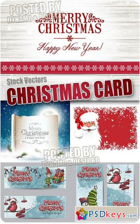 Xmas cards 6 - Stock Vectors