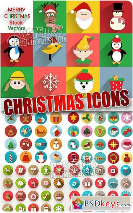Xmas icons - Stock Vectors