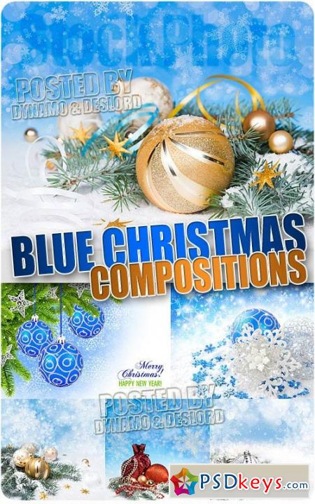 Xmas Blue Compositions 2 - UHQ Stock Photo