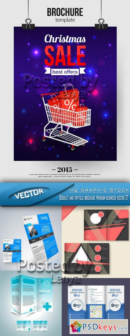Booklet and tri-fold brochure premium business vector 37