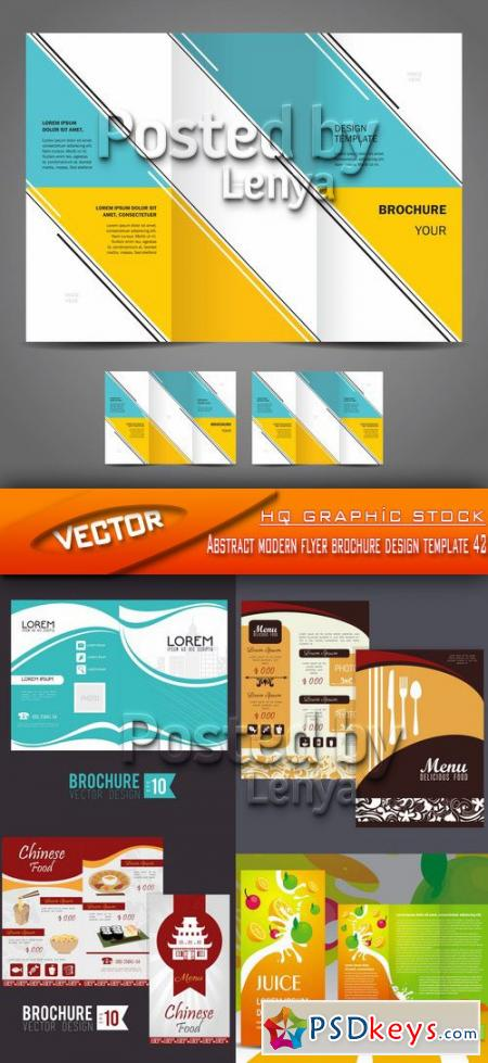 Abstract modern flyer brochure design template 42