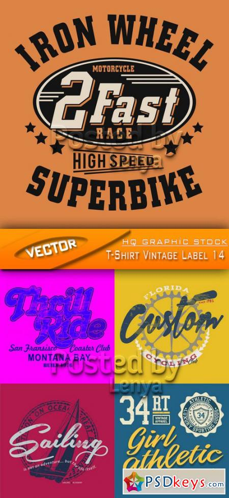Stock Vector - T-Shirt Vintage Label 14