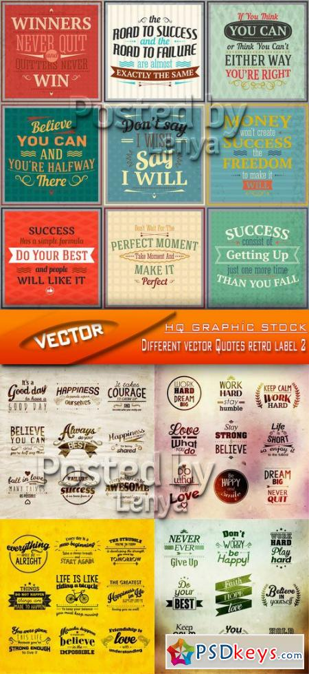 Stock Vector - Different vector Quotes retro label 2