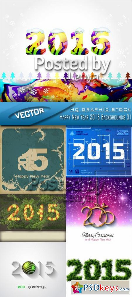 Stock Vector - Happy New Year 2015 Backgrounds 31