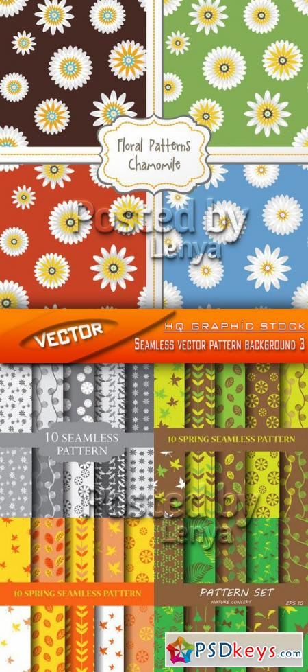 Stock Vector - Seamless vector pattern background 3