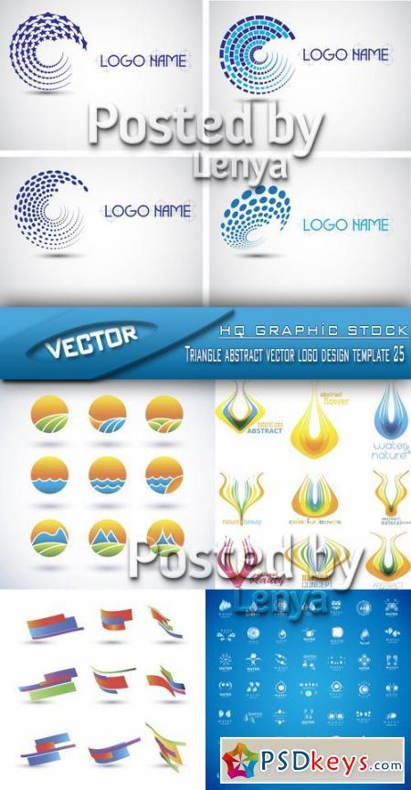 Stock Vector - Triangle abstract vector logo design template 25