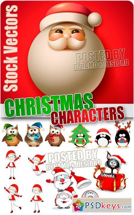 Christmas Characters 3 - Stock Vectors