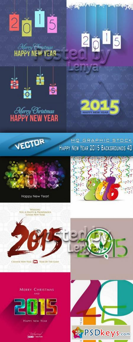 Stock Vector - Happy New Year 2015 Backgrounds 40