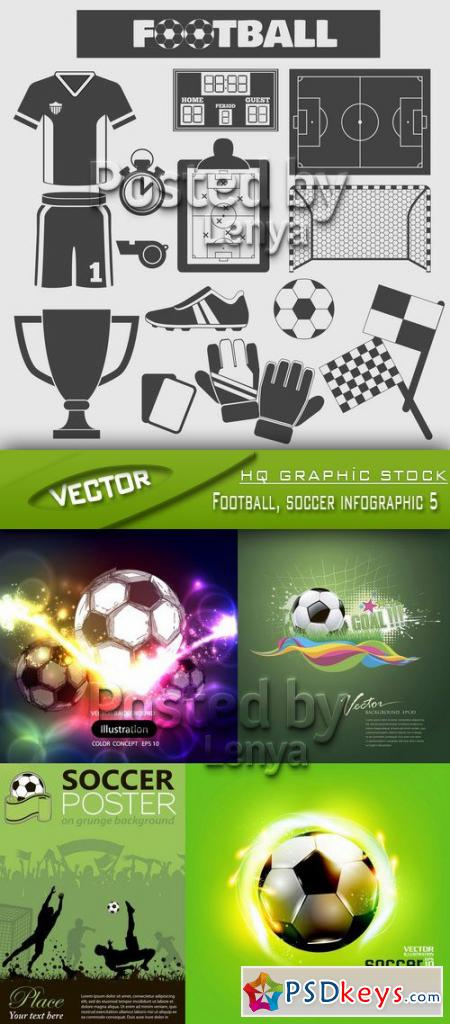 Stock Vector - Football, soccer infographic 5