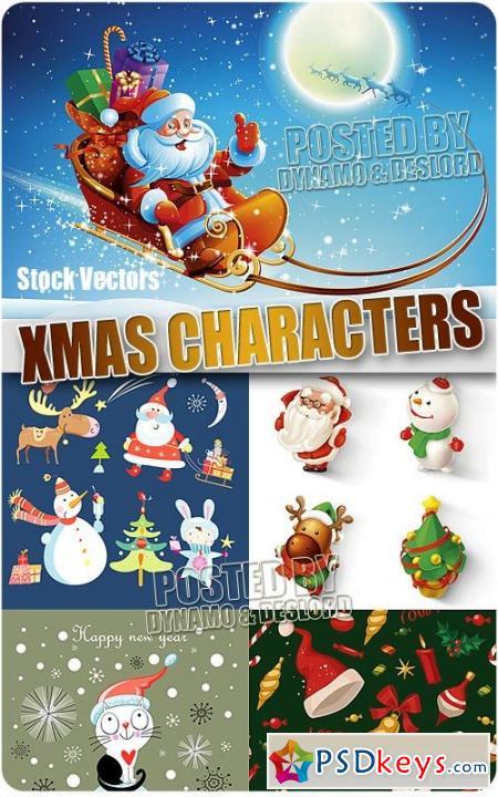 Xmas characters 3 - Stock Vectors