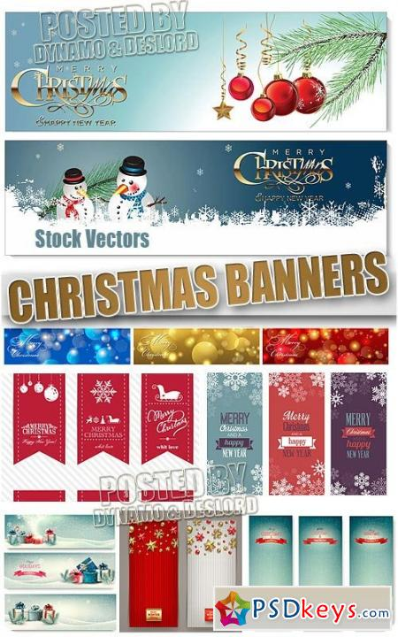 Xmas Banners - Stock Vectors