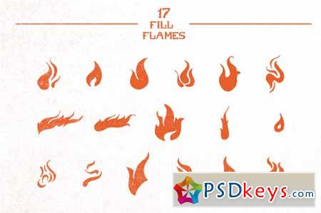 25 Hand-Made Flames 52226