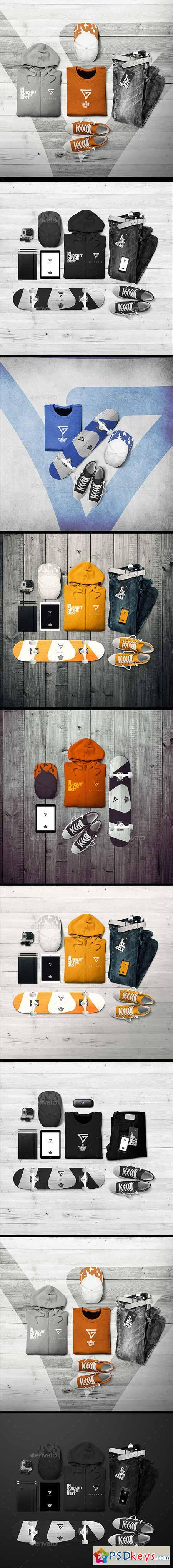 Branding Apparel Clothing mock-up 9848682