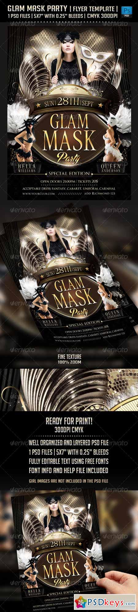 Glam Mask Party Flyer Template 5594815