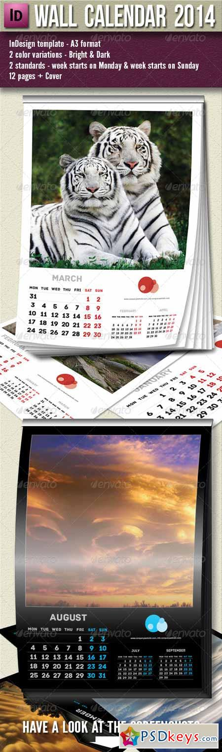 Wall Calendar 2014 - 13 pages A3 5759253