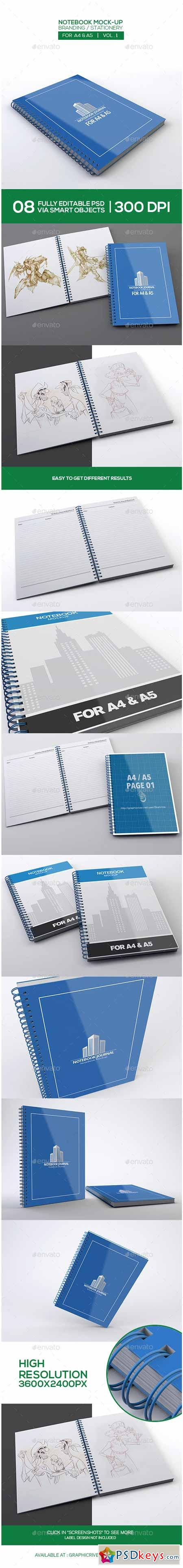 Notebook Mock-Up For A4 A5 9848714