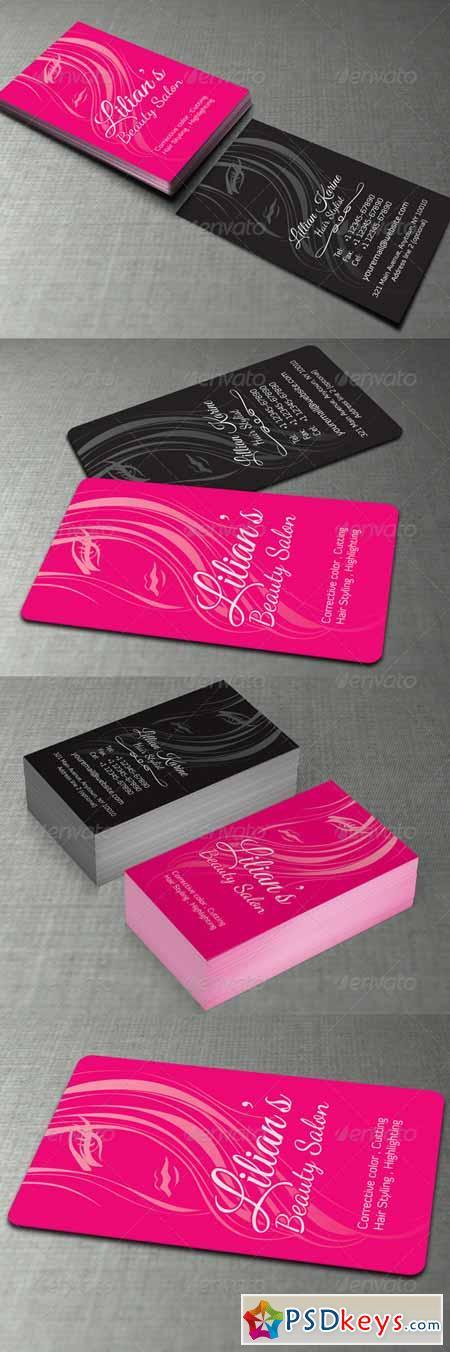 Beauty Salon Business Card 5741966 » Free Download Photoshop ...
