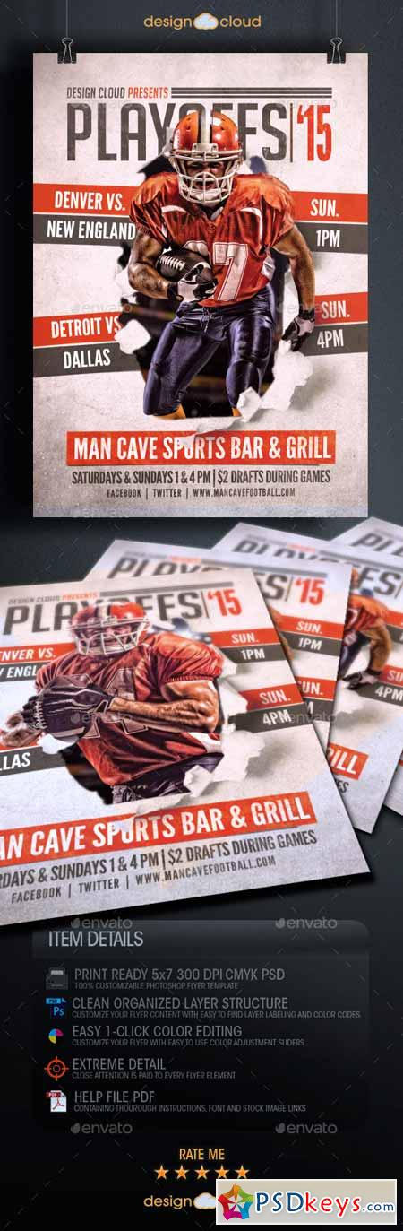 Playoffs 15 Flyer Template 9938114