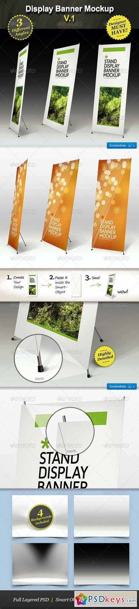 Stand Display Mockup - Roll-up Smart Template 168028