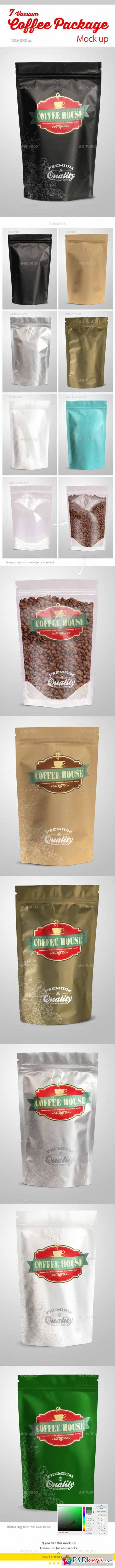 Coffee Vacuum Package Mock-up 9848938