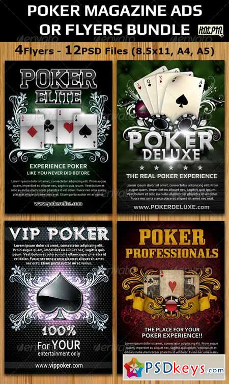 Poker Magazine Ads-Flyers Template Bundle 2664658