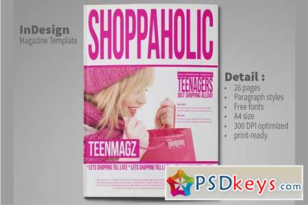 InDesign Magazine Template 26 Pages 113027