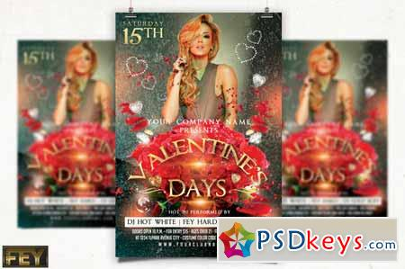 Valentines Day Party Flyer 141494