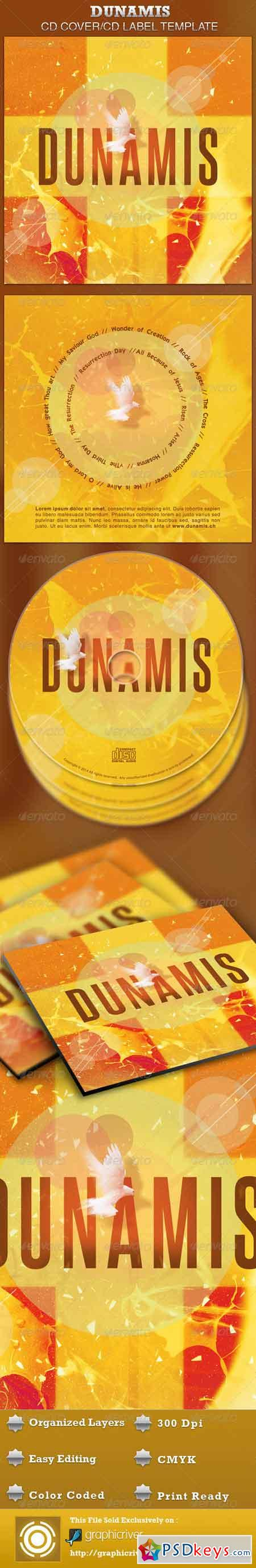 Dunamis CD Artwork Template 4278233