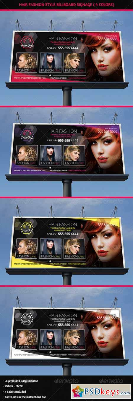 Hair Salon Fashion Style Billboard Signage 5404661