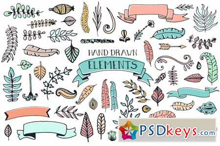 56 Doodle Decoration Elements 64789