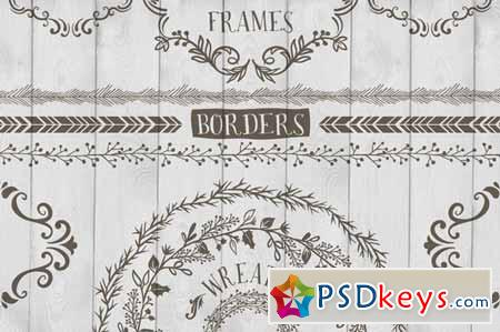 Frames, Wreaths and Borders 75873