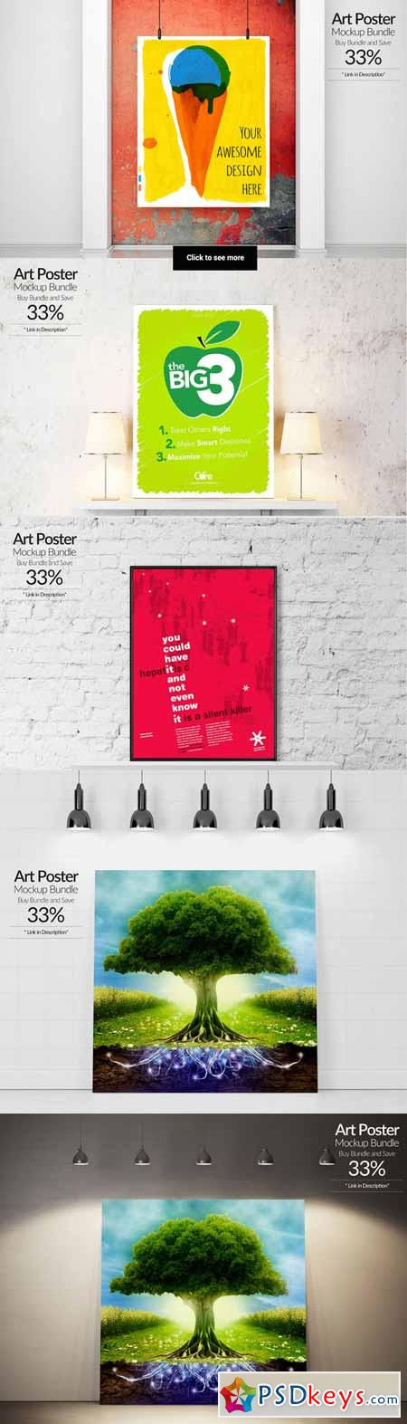 Art Poster Mockup Bundle 142442