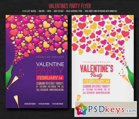 Valentines Party Flyer 142746
