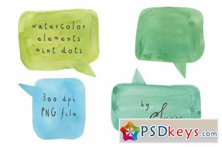 Watercolour Speech Bubbles 59696