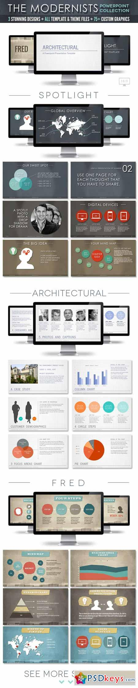 The Modernists Collection - Powerpoint Templates 4475606