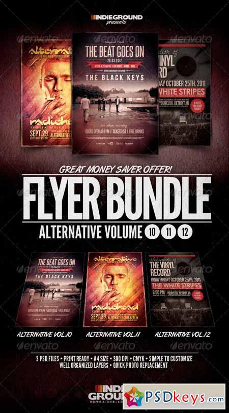 Alternative Flyer Poster Bundle Vol  10-12 792961 » Free