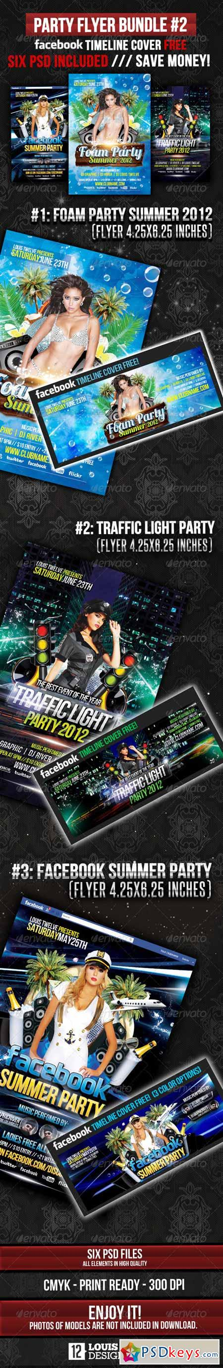 Party Flyer Bundle 02 + Facebook Timeline 2503918