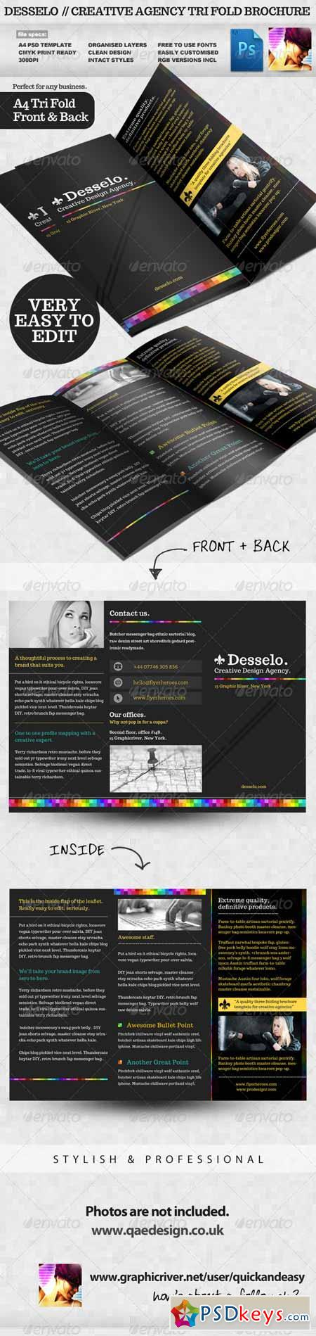 creative brochure templates free download - desselo creative tri fold brochure template 2310985