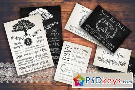 Rustic Wedding Invitation Pack 128815