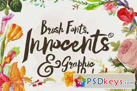 Innocents fonts & Graphic packs 142436