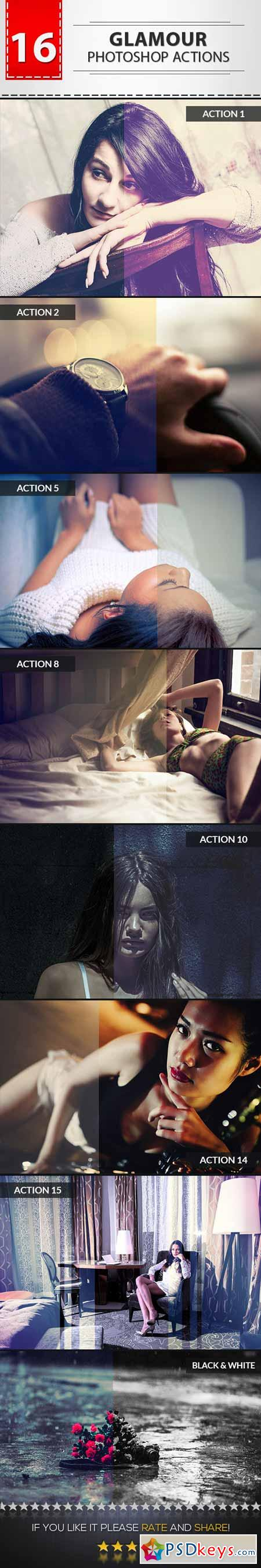 16 Glamour Photoshop Actions 9719399