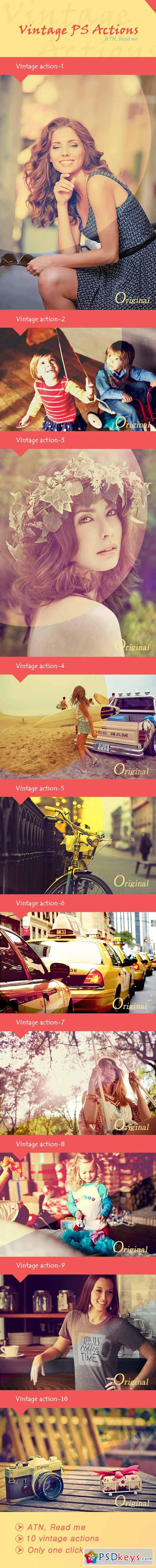 Vintage PS Actions 10 9784259