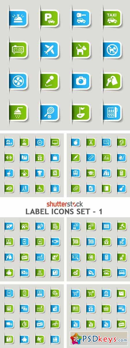 Label Icons Set - 1 - 8xEPS