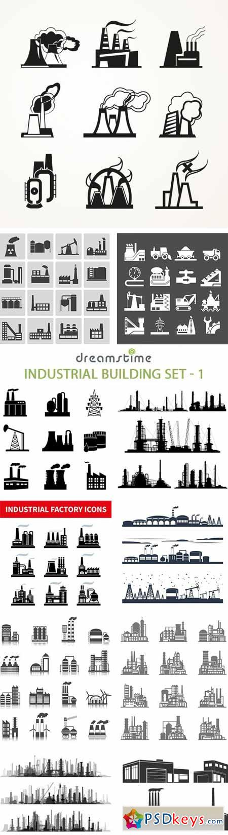Industrial Building Set - 1 - 25xEPS