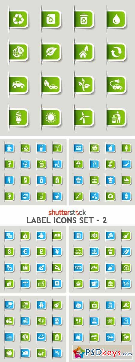 Label Icons Set - 2 - 9xEPS